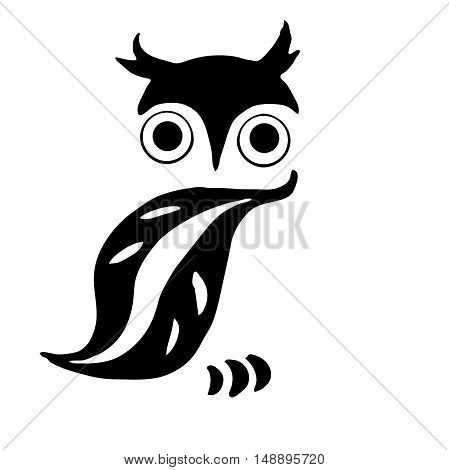 Very High quality original owl for coloring or tattoo