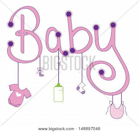 Cute Pink Baby Girl Clothes Line Items
