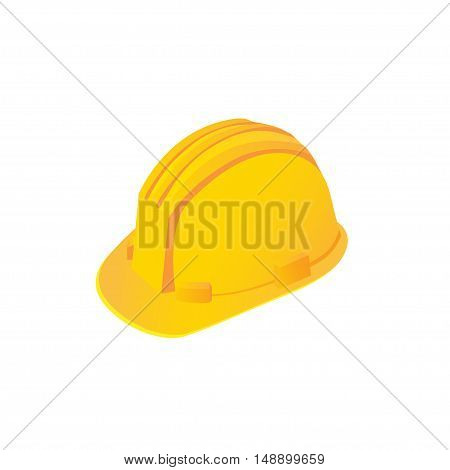 Large construction helmet on a white background. Vector illustration