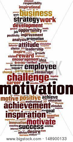 Motivation word cloud concept. Vector illustration on white