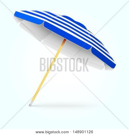 Summer beach umbrella, parasol. Sun protection vector concept. Shade from sunlight illustration