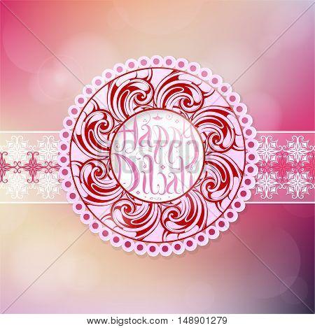 Elegant greeting card for Diwali holiday celebration