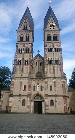 The Basilica of St. Castor is the oldest church in Koblenz in the German state of Rhineland Palatinate