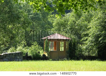 Summerhouse in beautiful park