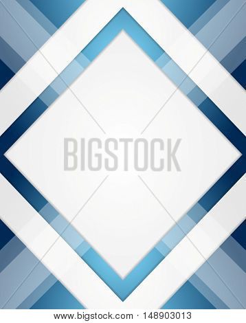 Minimal tech geometric blue background. Vector layout design illustration
