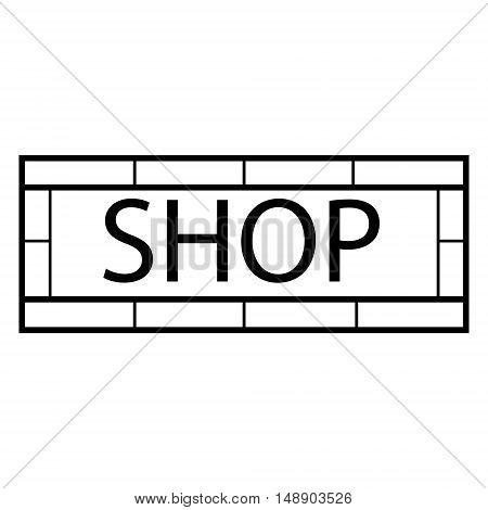 Vector illustration modern shop sign. Signboard design template. Shop store sign icon
