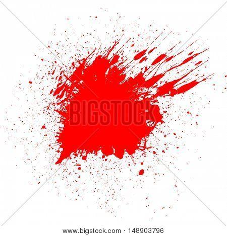 Halloween background with red blood splatter