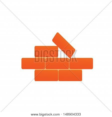 The large bricks on a white background. Vector illustration