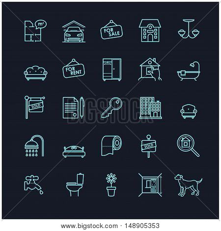 house and real estate stock vector icons for your design