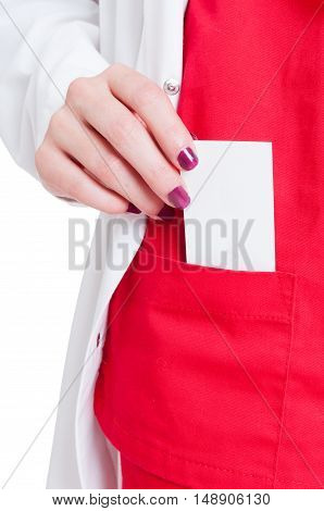 Doctor Uniform With Business Card In Pocket