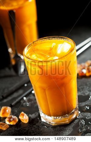Sea Buckthorn Lemonades with Crushed Ice