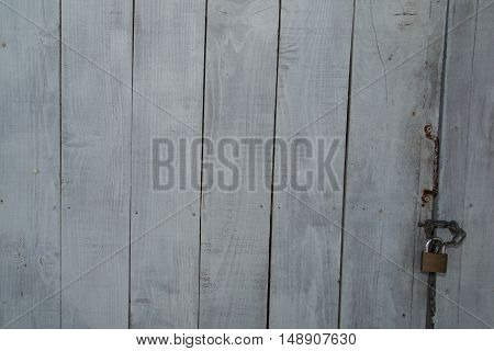 Grey Wooden Texture For Background Usage. Texture Of Grey Wooden Fence.