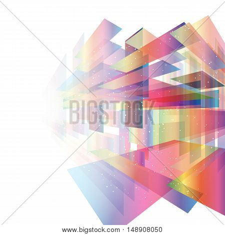 Colored transparent rectangles in space.Vector abstract background EPS10