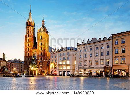 Poland city Krakow at a nice sunsrie