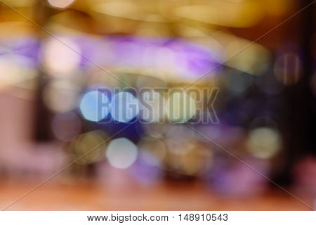 abstract colorful defocused circular faculaabstract background with vintage film