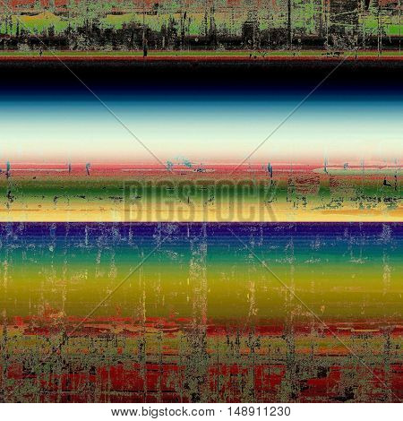 Abstract grunge background or damaged vintage texture. With different color patterns: yellow (beige); green; blue; red (orange); black; white