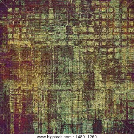 Background with grunge elements on vintage style old texture. With different color patterns: yellow (beige); brown; gray; green; purple (violet); pink