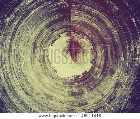 Spherical old-style dirty background with textured vintage elements and different color patterns: yellow (beige); gray; purple (violet); pink