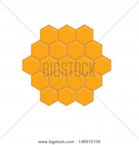 Vector illustration honey comb icon. bees wax honeycomb full of delicious honey