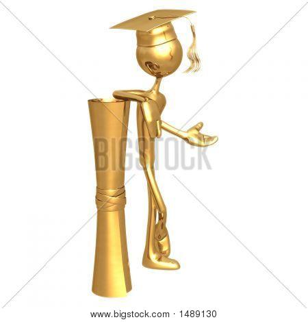 Golden Grad Graduation Concept