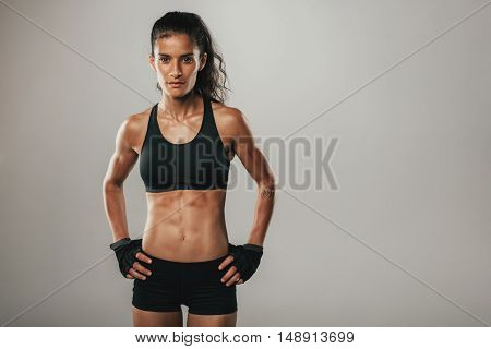 Fit Healthy Young Woman With A Toned Physique