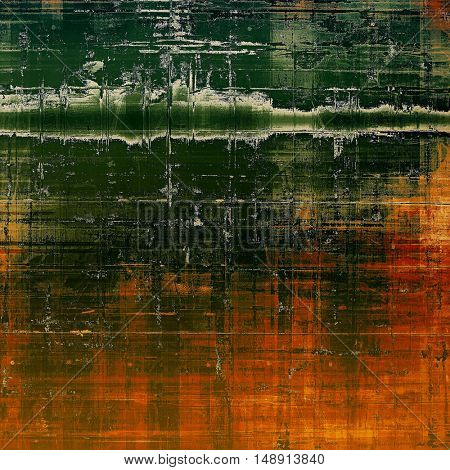 Retro style grunge background, mottled vintage texture. With different color patterns: yellow (beige); brown; green; red (orange); black