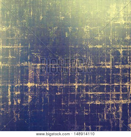 Retro background with vintage style design elements, scratched grunge texture, and different color patterns: yellow (beige); gray; green; blue; purple (violet)
