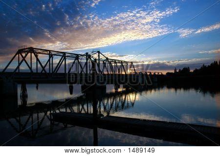 Trestle Bridge Over San Juoquin River