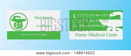 Business card for health professionals and pharmacies