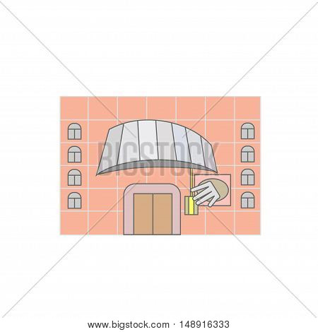 building concert hall museum library. symbol icon logo sign. vector illustration.