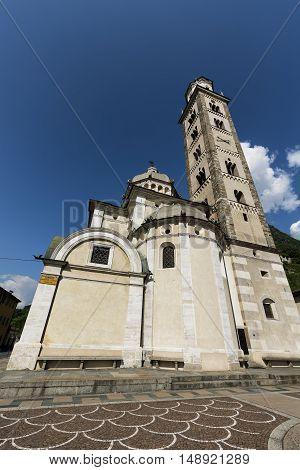Tirano (Sondrio Lombardy Italy) the historic church known as Sanctuary