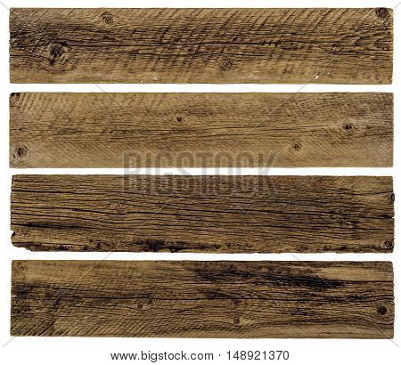 Old planks isolated on white. Abstract background, empty template.