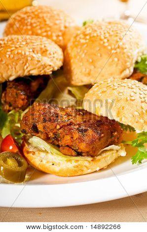 Mini Chicken Burgers