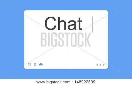 Chat Social Network SMS Communication Concept