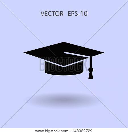 Flat  icon of graduate