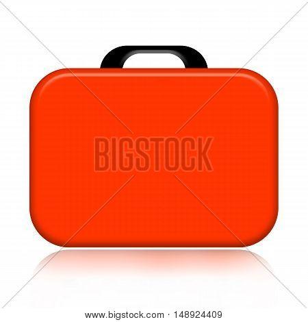 Orange case illustration isolated on white background