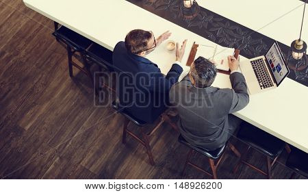 Businessmen Meeting Support Analysis Corporate Concept