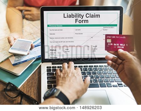 Liability Claim Form Document Application Concept
