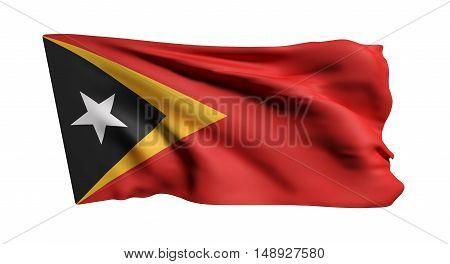 Democratic Republic Of Timor-leste Flag Waving