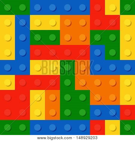Perfect Seamless Vector Pattern Of Plastic Parts. The Colors Don T Mix With Each Other.