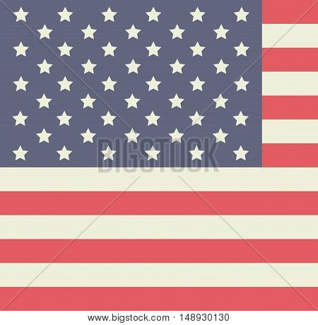 flag usa and Labor day icon. Patriotism Party festival and national theme. Colorful design. Vector illustration