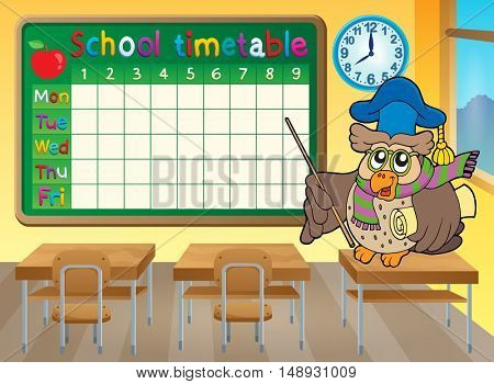 School timetable classroom theme 4 - eps10 vector illustration.