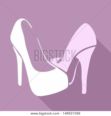 Very high quality original trendy  vector illustration of female shoes with heels for website design, mobile app, sale, wedding