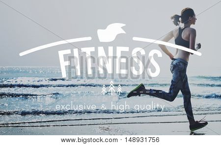 Healthcare Fitness Exercise Jog Running Concept