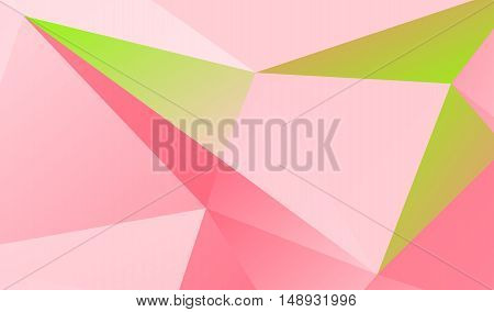 Light pink and green polygonal illustration .
