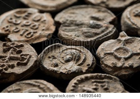 Antique Post Seals Made Of Lead