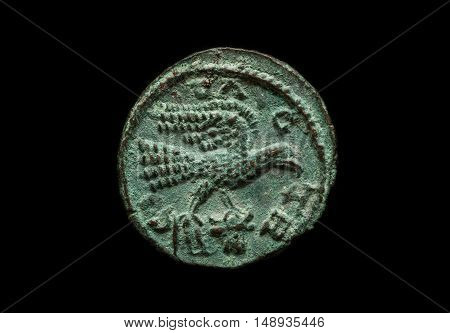 Ancient Provincial Roman Coin With Bird Image