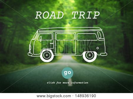 Rent A Car Road Trip Travel Destination Concept
