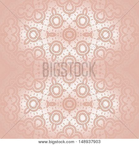 Abstract geometric seamless plain background, shiny and delicate. Regular  round ornaments centered and blurred in pink shades.