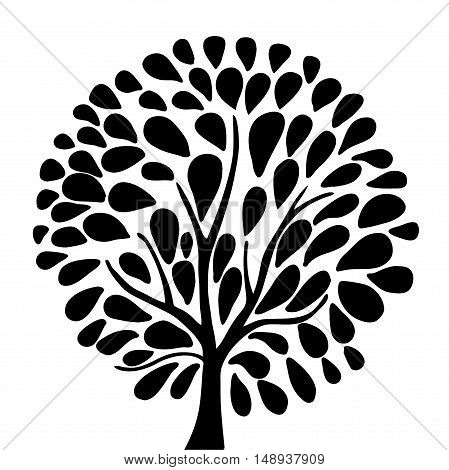 Very high quality original trendy  vector illustration of an ecology tree concept